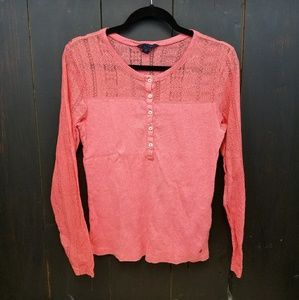 👻 Tommy Hilfiger lace yoke and sleeves size L